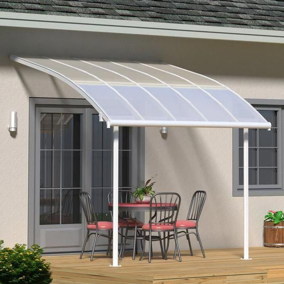 Look At This Trendy Canvas Awning What A Creative Design Canvasawning In 2020 Patio Awning Outdoor Patio Decor Pergola With Roof