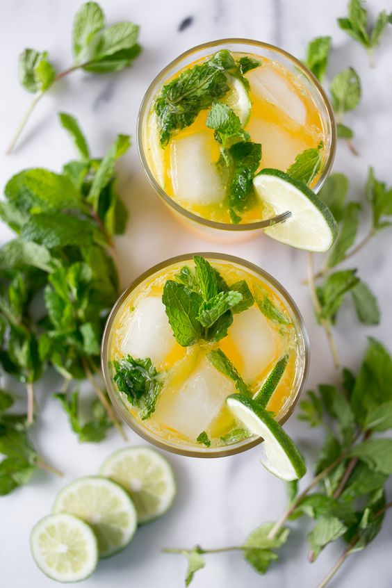 This mango mojito is the perfect combination of rum, mint and sweet mango nectar. This drink is perfect for sipping by the pool and dreaming of warm sunny weather.