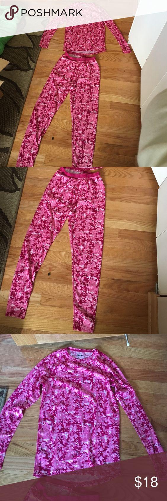 long underwear set pink long underwear set brand new never worn in great