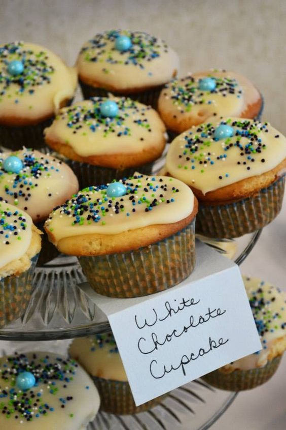 Baby Shower Cupcake Flavor Ideas : Debbie Serra made 6 different flavors of cupcakes! Candy ...
