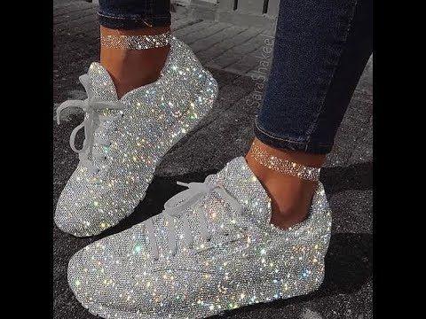 كوتشيات بناتى 2019 Sparkly Shoes Sneakers Fashion Sneakers