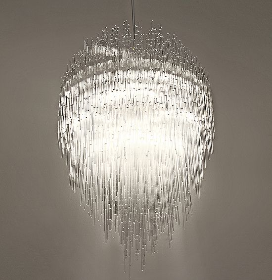 Fractal Pendant Lights: ICE CHANDELIER, My Power Flurries Through The Air Into The