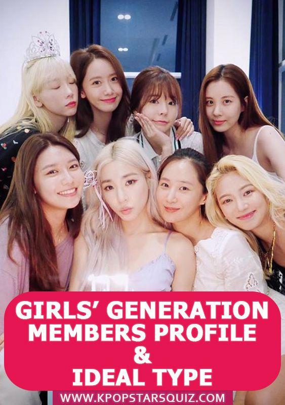 Girls' Generation Membres : girls', generation, membres, Girls', Generation, Members, Profile,, Ideal, Girls, Generation,, Profiles,