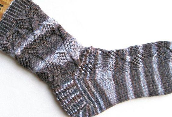 Stricken Socken Muster Diamond Lace Kabel von WearableArtEmporium, $6.50