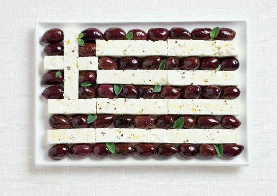 Grèce – olives et feta