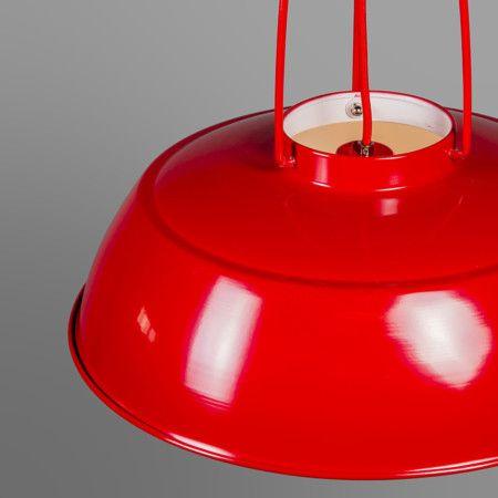 Pendelleuchte Usine rot: #innenbeleuchtung #lampen #leuchten #gemütlich #weihnachten