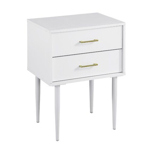 Mercer41 Winningham 2 Drawer End Table With Storage Reviews Wayfair White Side Tables Saracina Home Side Table With Storage