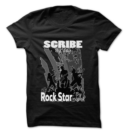 Scribe Rock... Rock Time ... 999 Cool Job Shirt ! - #housewarming gift #monogrammed gift. ORDER HERE  => https://www.sunfrog.com/LifeStyle/Scribe-Rock-Rock-Time-999-Cool-Job-Shirt-.html?id=60505