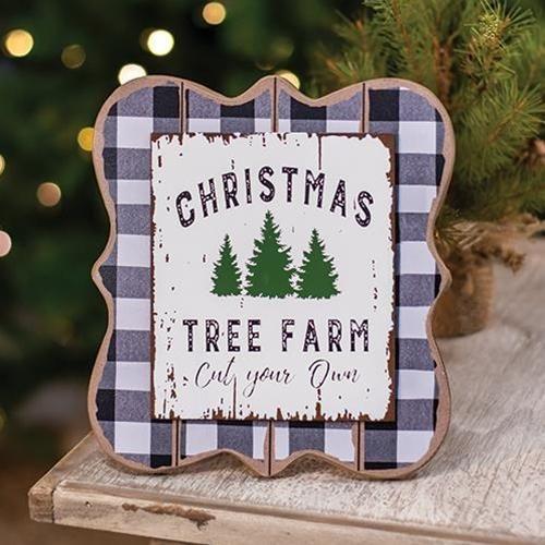 Christmas Tree Farm Buffalo Check Easel Christmas Tree Farm Country Christmas Decorations Tree Farms