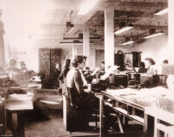 Wrens working on the Enigma operation at Bletchley Park, an operation which is said to hav...