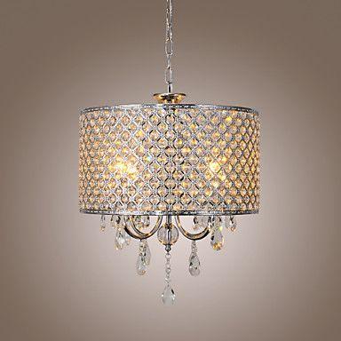 tambor+lustre+de+cristal+modernos+4+luzes+–+BRL+R$+572,34