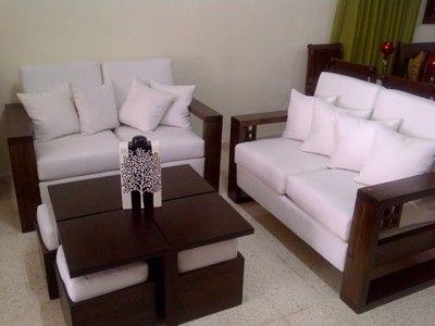 Juego De Sala Blanco Con Cafe Jpg 400 300 Muebles Sala Livings Modernos Juego De Living