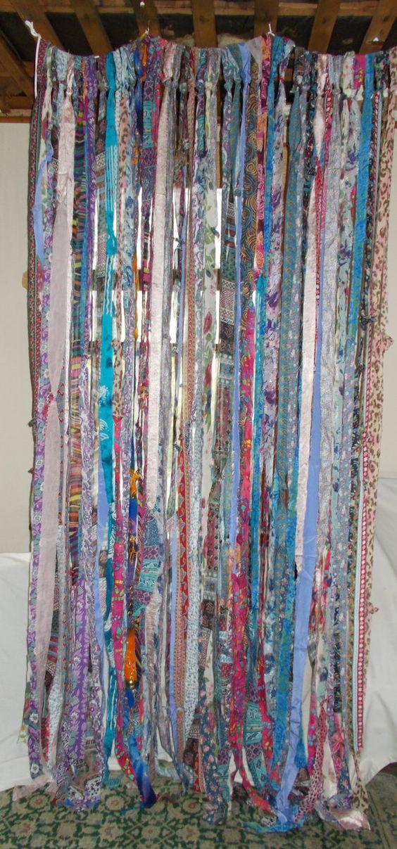 BOHO Gypsy Hippie Garland Banner Curtain by TheLaurelCottage