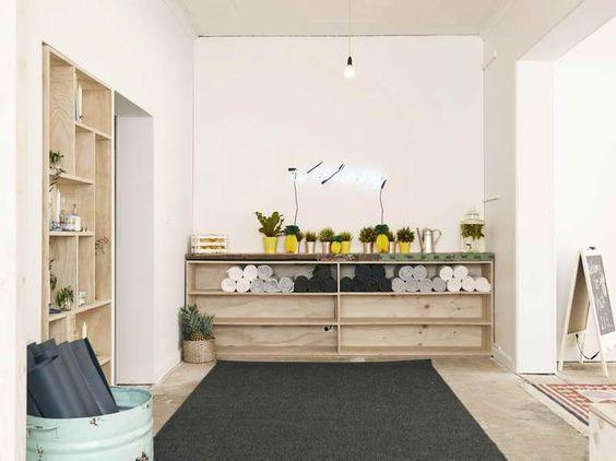 Yoga Studio Design Ideas | Yoga Studio Decorating Ideas with white wall: