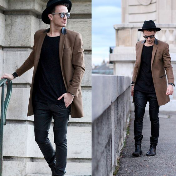 #camel #camelcoat #overcoat #thekooples #infashionity #menswear #fashionblog #allblack #hat #leatherpants #hmxbalmain    More pics of this look on the blog:  direct link: http://infashionity.com/2015/11/22/black-and-camel/  www.infasHionity.com  www.infasHionity.com