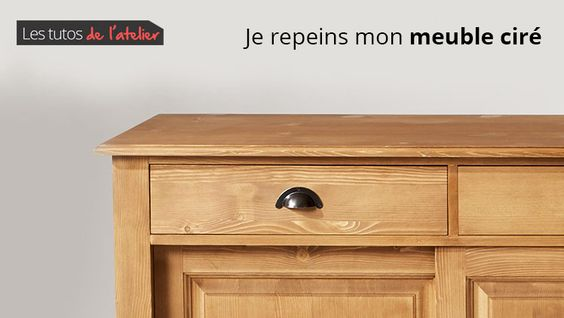 Découvrez un tutoriel facile pour repeindre un meuble ciré en 4 étapes simples.