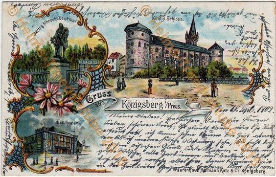 Orig. Ansichtskarte,Ostpreußen,Königsberg,Kaliningrad,Калинингра́д. 19.9.1902
