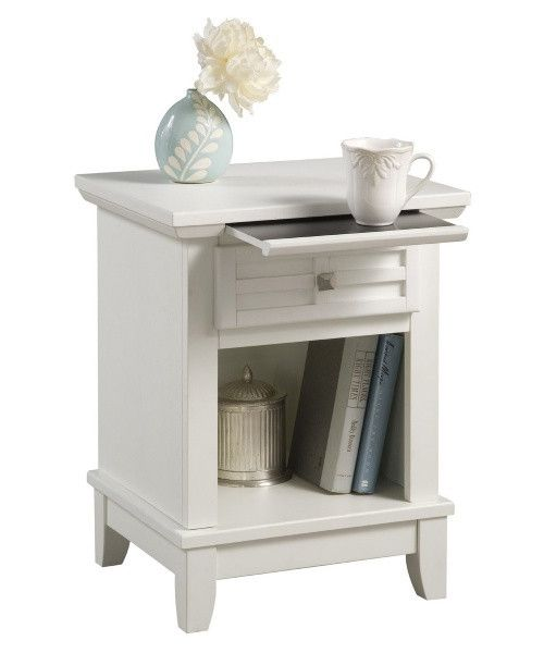 Arts & Crafts 1 Drawer Nightstand - White - Nightstands at Hayneedle: