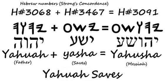 Yahusha means Yahuah saves