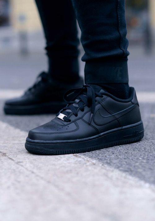 nike air force all black