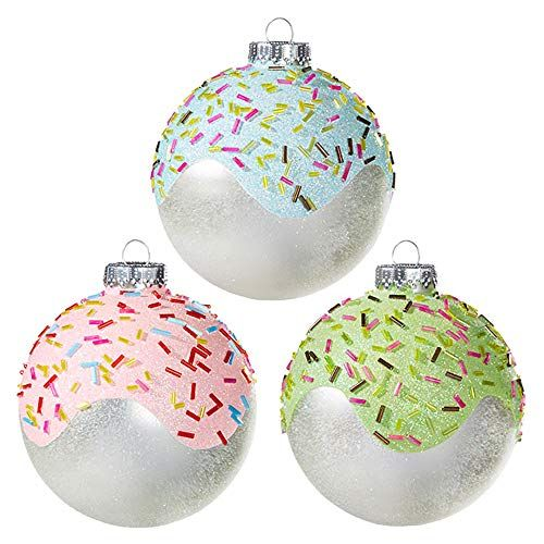 Raz Imports 2020 4-Inch Pinecone Ball Ornament Assortment of 2