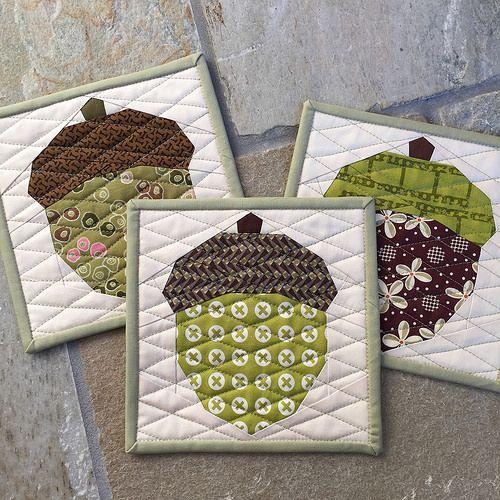 Acorn Quilt Block | Flickr - Photo Sharing!