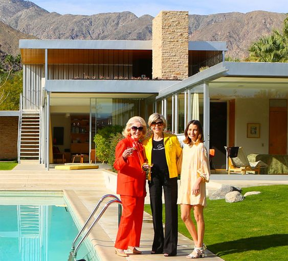 The Ladies from Poolside Gossip: Nelda Linsk + Helen Dzo Dzo Kaptur with Kelly Lee of Kelly Golightly | photo by Fred Moser