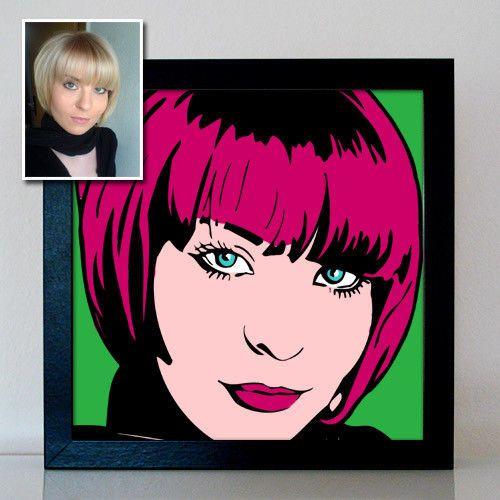 Portrait from Photo Retro PopArt Bild auf Leinwand