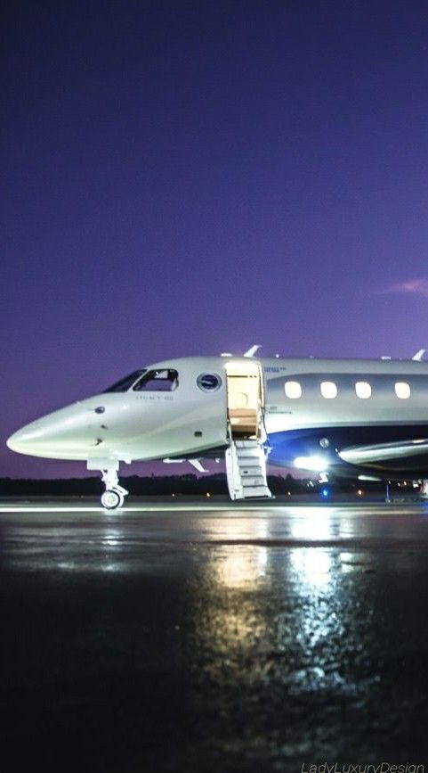 LADY LUXURY  Private Jet Legacy 450 Source Ladyluxury7  AampD OPULENCEh