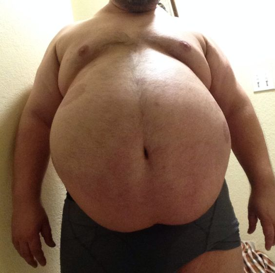 Beer belly big chubby enourmous fat huge