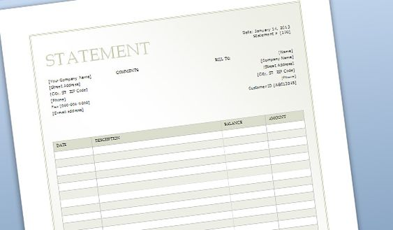 Billing Sheet Template for Word medical jobs Pinterest - statement template word