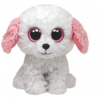 Ty Beanie Diva Hund weiss mit rosa Ohren