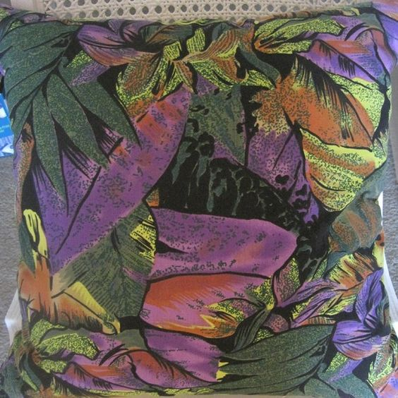 Vibrant Tropical Foliage Handmade Pillow Faux by beachsidestyle, $55.00
