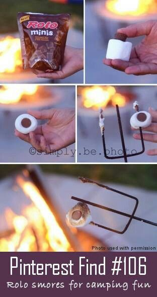 Roasted marshmellows with Rolos.