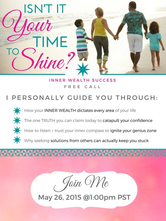 Isn't it Your Time to Shine? Inner Wealth Success FREE Call with Kalyani Roldan