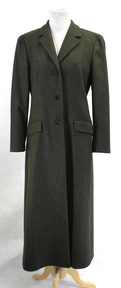 Michael Kors Collection Green Single Breasted Cashmere Maxi Coat Jacket 8 #michaelkors #BasicCoat