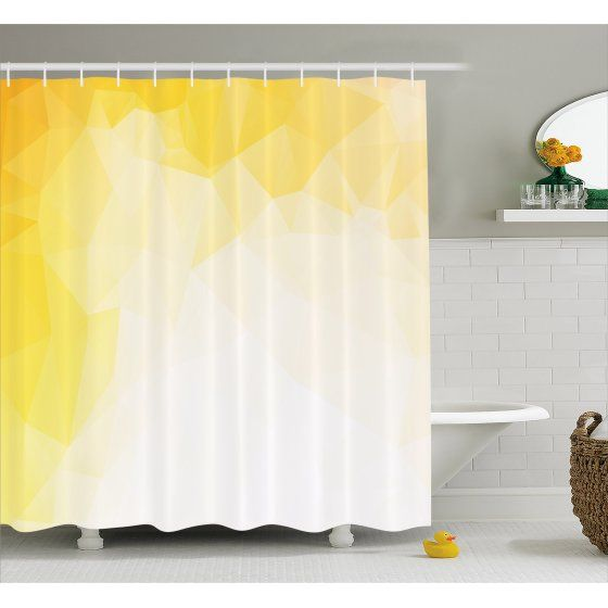 Shower Curtain And Hook Set Yellow 72x72 Yellow Shower