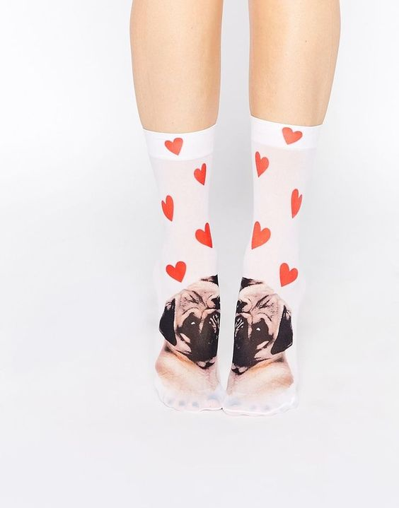 Pug socks of course!