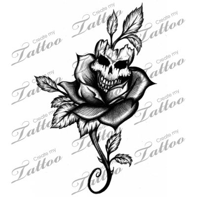 skulls roses and tattoos and body art on pinterest. Black Bedroom Furniture Sets. Home Design Ideas