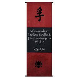 @Overstock - This scroll, placed in a special place of your home, will always be there to help put positive thoughts in your mind. The inspiring wall banner showcases a beautiful design to go with the motivating words of wisdom.http://www.overstock.com/Worldstock-Fair-Trade/Cotton-Truth-Symbol-and-Buddha-Quote-Scroll-Indonesia/5160185/product.html?CID=214117 $31.94