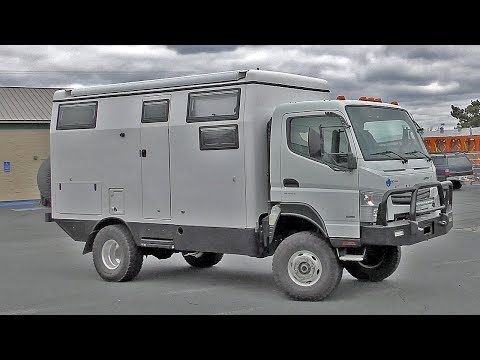 Earth Cruiser Fx 4x4 Camper Walk Through Fuso Overland Rig Youtube In 2020 Expedition Truck Overlanding Cruisers