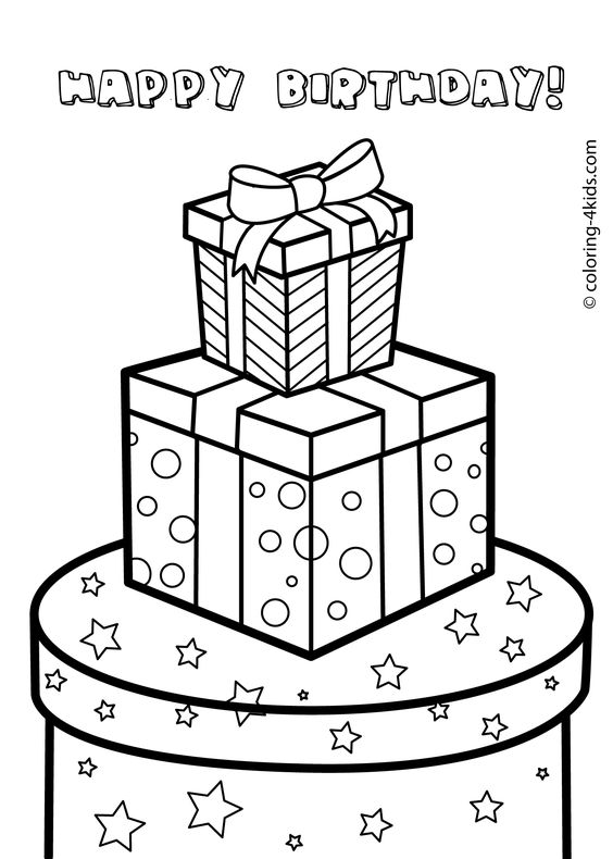 Coloring Pages For Kids Gift Boxes And Coloring Pages On Coloring Pages Gifts