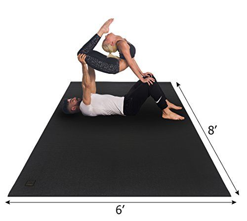 Gxmmat Extra Large Yoga Mat 6 X8 X7mm Ultra Comfortable Https Www Amazon Com Dp B077mbt6lg Ref Cm Sw R P Large Yoga Mat Thick Exercise Mat Mat Exercises