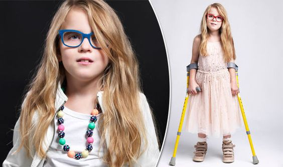 Girl, 8, defies the odds to become model despite suffering from cerebral palsy