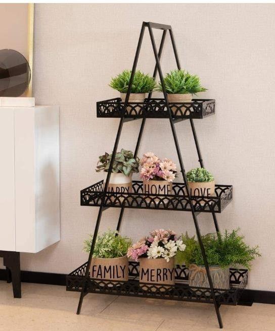 3 Tier Indoor Outdoor Multipurpose Folding Plant Storage Display