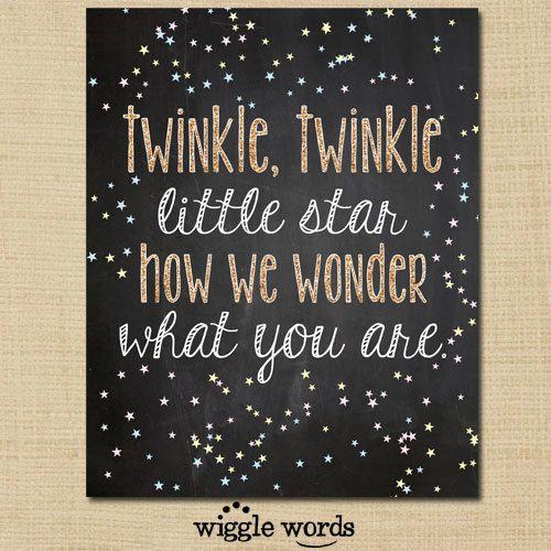 Twinkle Twinkle Little Star Gender Reveal Party Decor, Photo Prop, Chalkboard, Printable, Gold, Pink, Blue, Glitter - Digital File