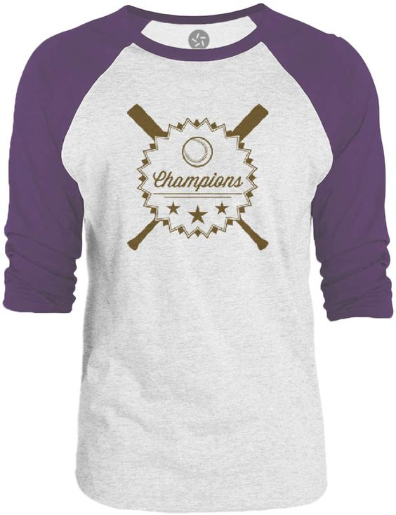 Big Texas Baseball Champions (Brown) 3/4-Sleeve Raglan Baseball T-Shirt