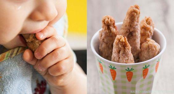 Backen für Babys: Dinkelstangen ohne Zucker und Ei   http://www.backenmachtgluecklich.de