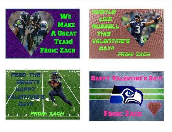 seattle seahawks valentine 39 s day cards v day pinterest