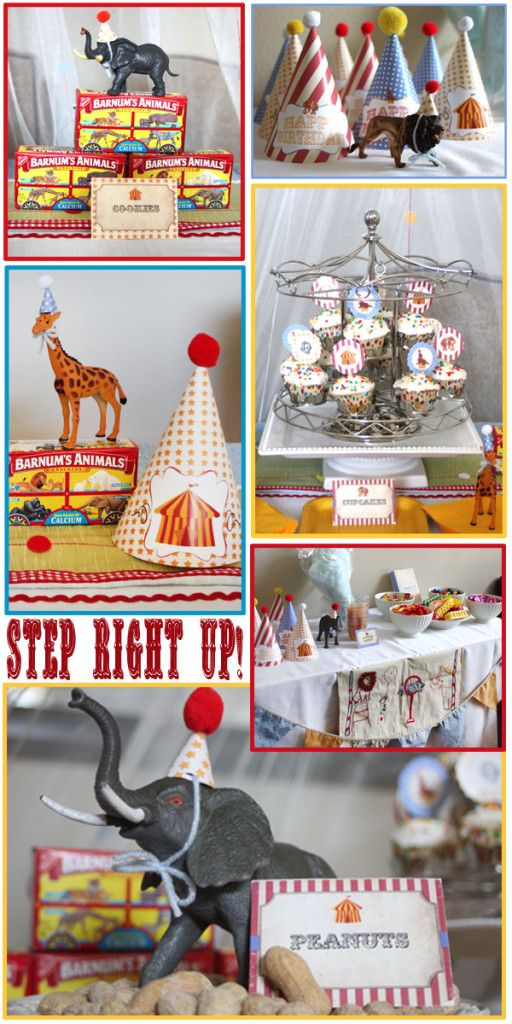 Vintage Circus Party Treats: